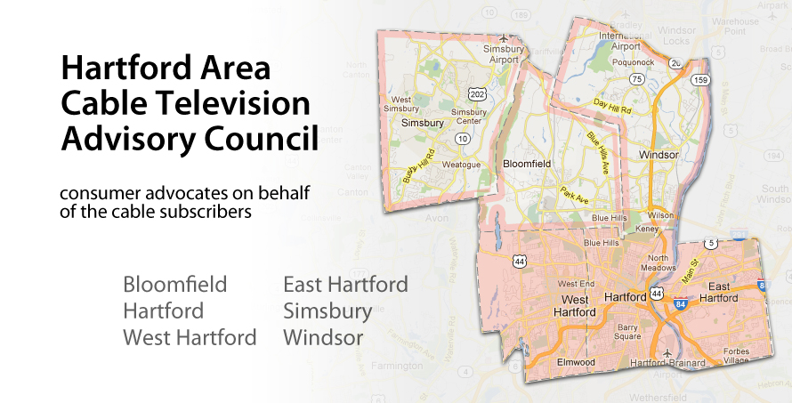 Hartford area cable television advisory council map